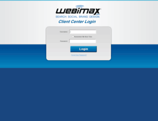 clientcenter.webimax.com screenshot