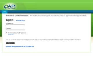 clientconnections.apihealthcare.com screenshot