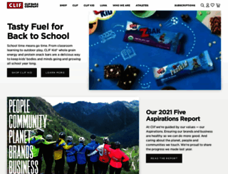clifbar.com screenshot