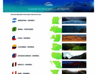 clima.com screenshot