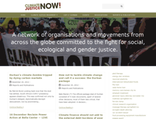 climate-justice-now.org screenshot
