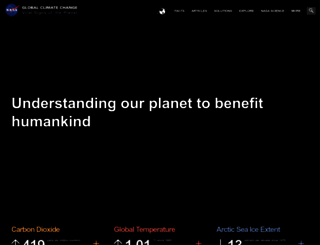 climate.nasa.gov screenshot