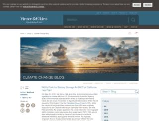 climatechange.velaw.com screenshot