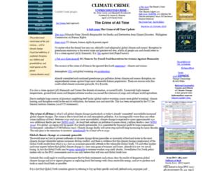 climatecrime.org screenshot