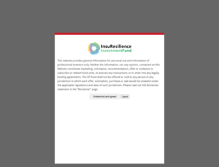 climateinsurancefund.com screenshot