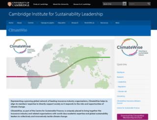 climatewise.org.uk screenshot