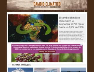 climaticocambio.com screenshot