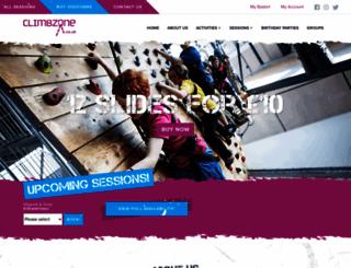 climbzone.co.uk screenshot