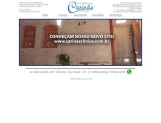 clinicacarinas.com.br screenshot