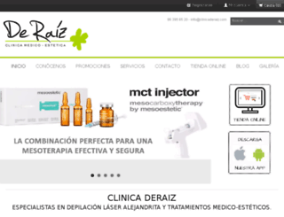 clinicaderaiz.com screenshot