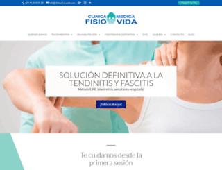 clinicafisiovida.com screenshot