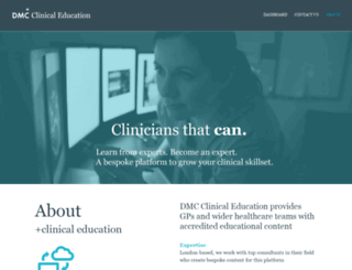 clinicaleducation.co.uk screenshot