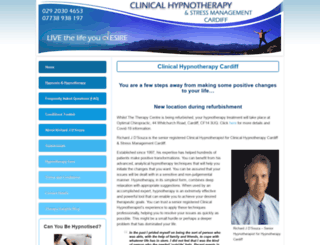 clinicalhypnotherapy-cardiff.co.uk screenshot