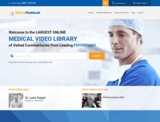clinicalnotebook.com screenshot