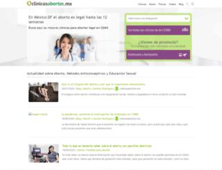 clinicasabortos.mx screenshot