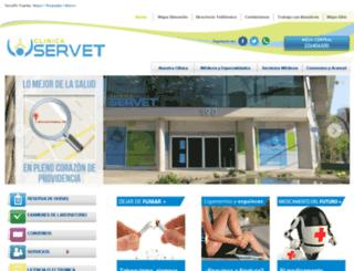 clinicaservet.cl screenshot