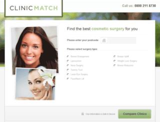 clinicmatch.co.uk screenshot