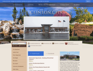clintoncity.com screenshot