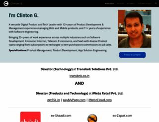 clintongoveas.com screenshot