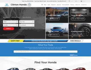 clintonhonda.com screenshot