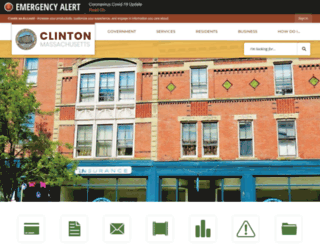 clintonma.gov screenshot
