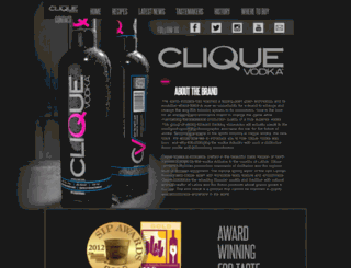 cliquevodka.com screenshot