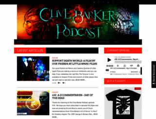 clivebarkercast.com screenshot
