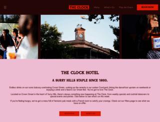 clockhotel.com.au screenshot