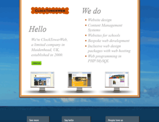 clocktowerweb.co.uk screenshot