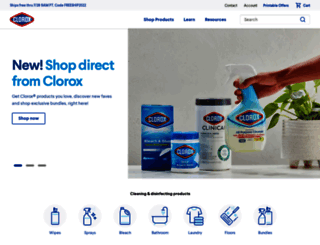clorox.com screenshot