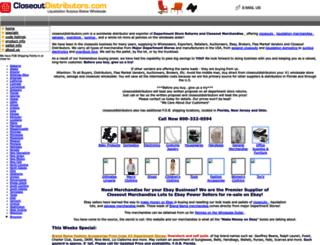 closeoutdistributors.com screenshot