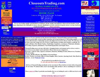 closeoutstrading.com screenshot