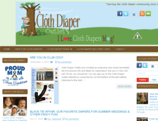 clothdiaperoutlet.blogspot.com screenshot