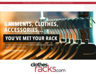clothesracks.com screenshot
