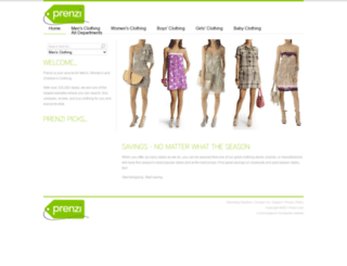 clothing.prenzi.com screenshot