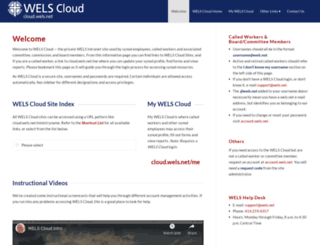 cloud.wels.net screenshot