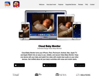 cloudbabymonitor.com screenshot