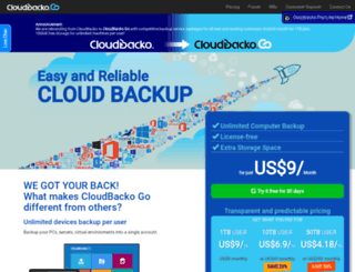 cloudbacko.com screenshot