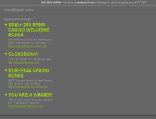 cloudbox41.com screenshot