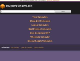 cloudcomputingtime.com screenshot