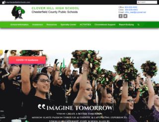 cloverhillhs.mychesterfieldschools.com screenshot