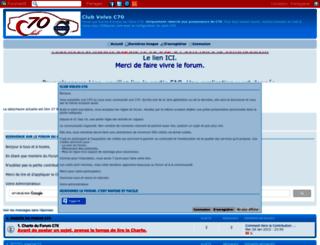 club-volvo-c70.forumgratuit.be screenshot