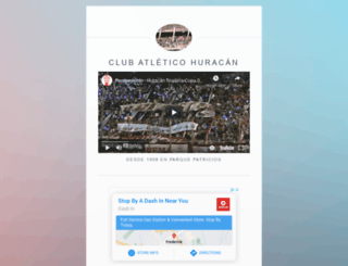 clubahuracan.com.ar screenshot