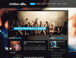 clubber.wizedesign.com screenshot