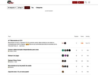 clubcorsavenezuela.com screenshot