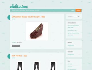 clubissime.wordpress.com screenshot
