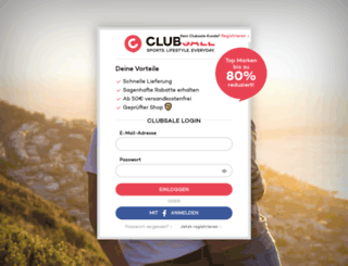 clubsale.com screenshot