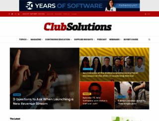clubsolutionsmagazine.com screenshot