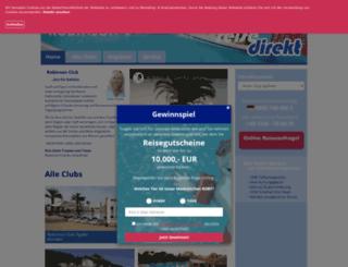 cluburlaub.reisedirekt.de screenshot