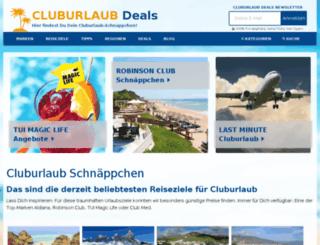 cluburlaubdeals.de screenshot